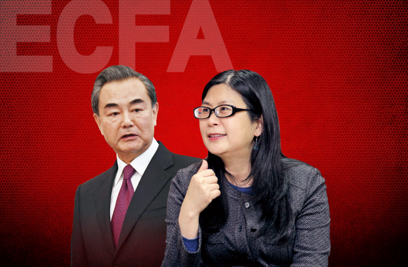 在ECFA的談判過中,賴幸媛(右)與王毅(左)曾建立祕密管道。(合成圖)