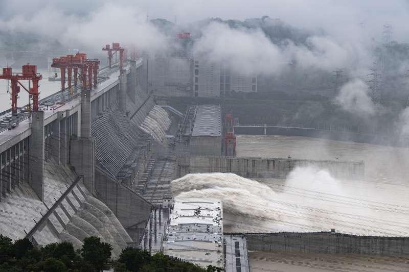 2020年7月,中國三峽大壩。(AP)