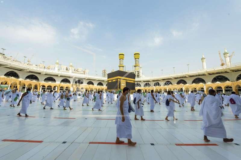 疫情影響,沙國限制2020年朝覲活動僅1千至1萬人可參加。(美聯社)