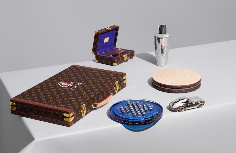 05Louis Vuitton撲克遊戲箱、骰子遊戲箱、跳棋套裝、搖酒器、紙鎮。(圖/Taiwan Tatler)