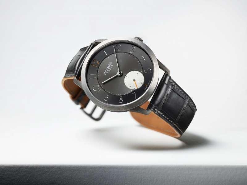 07Slim d'Hermès鈦金屬腕錶。(圖/Taiwan Tatler)