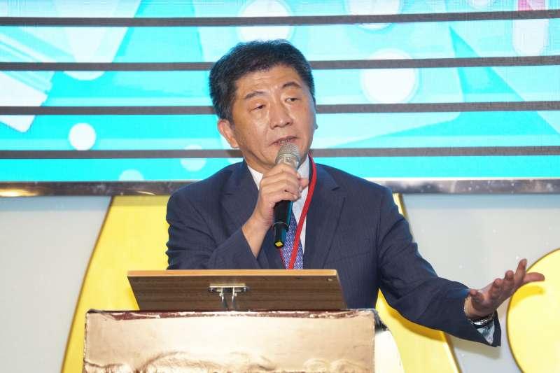 20200806-衛福部長陳時中6日出席「西藥商業同業公會全國聯合會理事長榮任餐會」。(盧逸峰攝)