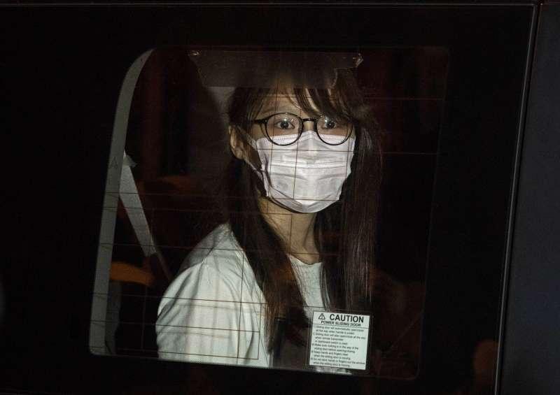 前香港眾志成員周庭10日晚間因涉違《港區國安法》被捕(美聯社)