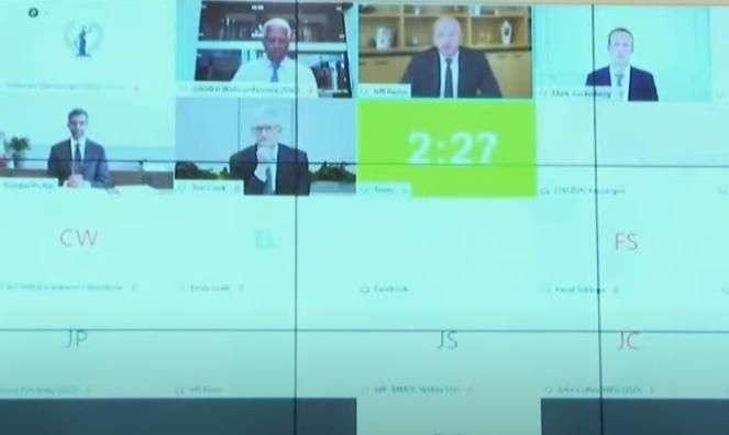 四大科技巨頭執行長遠端出席聽證會。(圖/取自方格子)