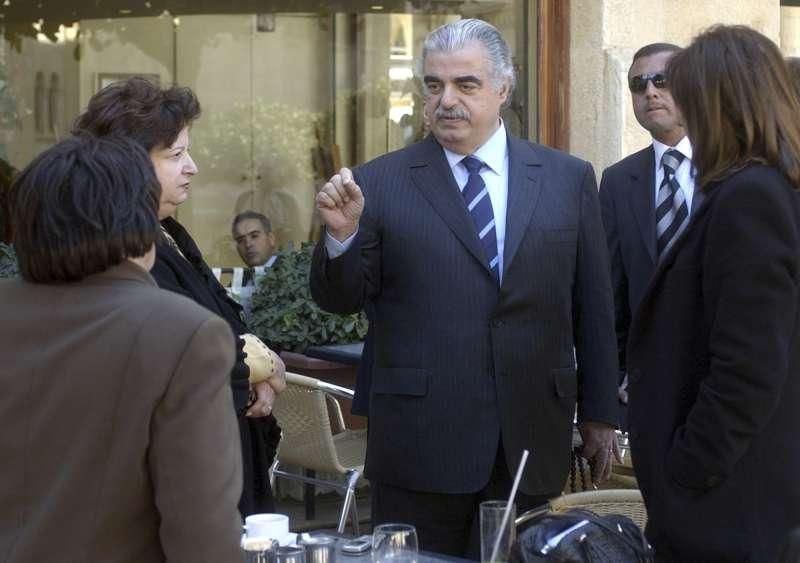 資料照,黎巴嫩前總理老哈里里。他在2005年因汽車炸彈攻擊身亡,2020年8月18日國際法庭判決真主黨一名成員有罪。(AP)