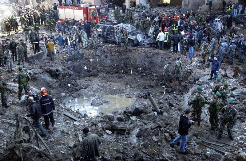 資料照,2005年貝魯特恐攻案,前總理哈里里遇害身亡。2020年8月18日國際法庭判決真主黨一名成員有罪。(AP)