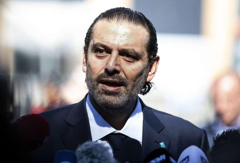 黎巴嫩前總理小哈里里。他的父親、前總理哈里里2005年因汽車炸彈攻擊身亡,2020年8月18日國際法庭判決真主黨一名成員有罪。(AP)