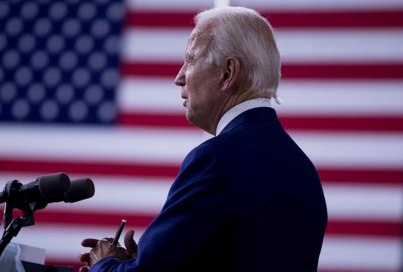 美國前副總統拜登20日正式接受民主黨總統候選人提名(美聯社)