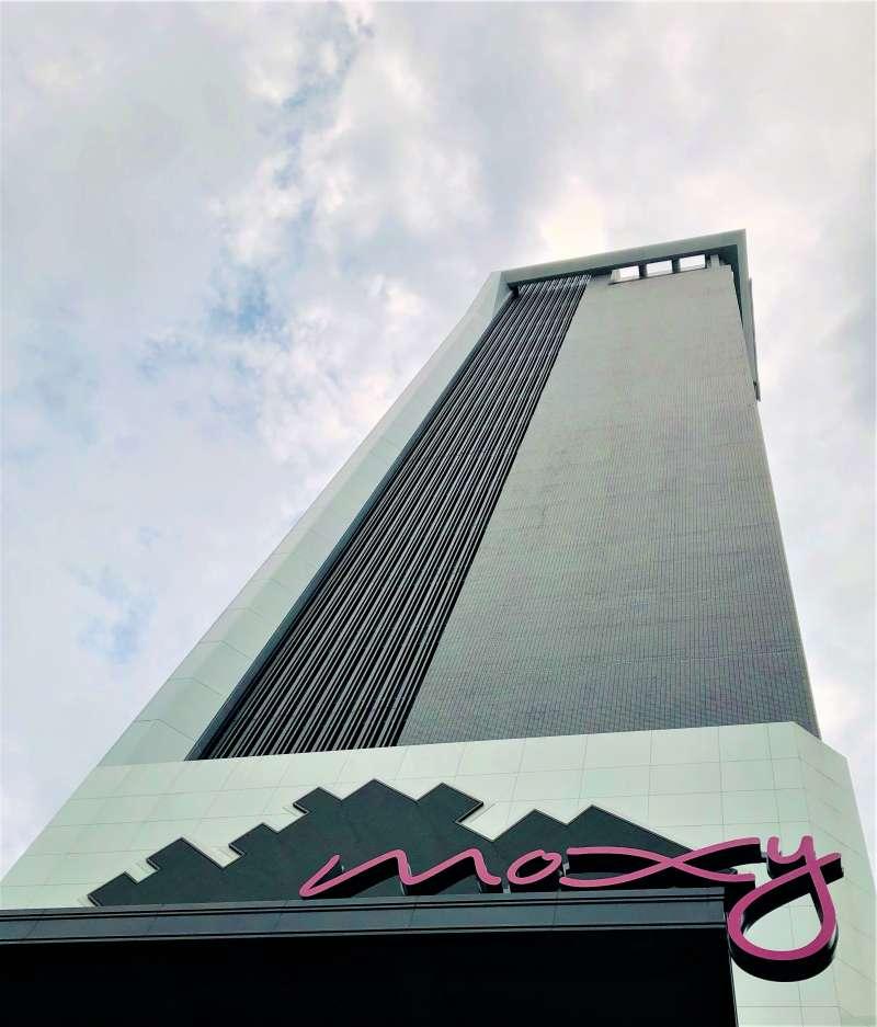 豐邑機構攜手萬豪集團引進大中華區首家Moxy酒店,預計9月中試營運。(林喬慧攝)