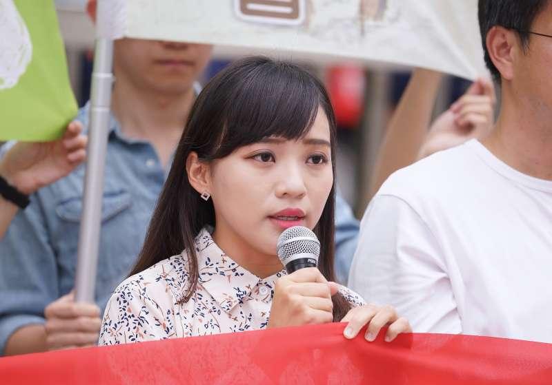 20190603-高雄市議員黃捷3日出席大社工業區轉型記者會。(盧逸峰攝)