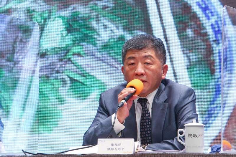 20200828-衛福部長陳時中28日針對開放美豬、美牛議題說明。(顏麟宇攝)