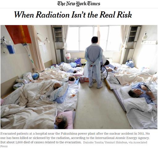 《紐約時報》關於輻射的報導。(林琬寧提供)