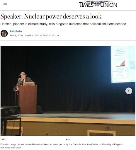 氣候學界權威James Hansen(見圖)認為核能是重要的能源之一。(林琬寧提供)