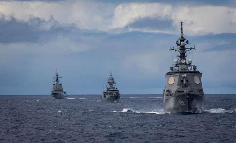 美軍艦隊在西太平洋積極巡航,並參與演習。 (翻攝自U.S. Navy臉書)