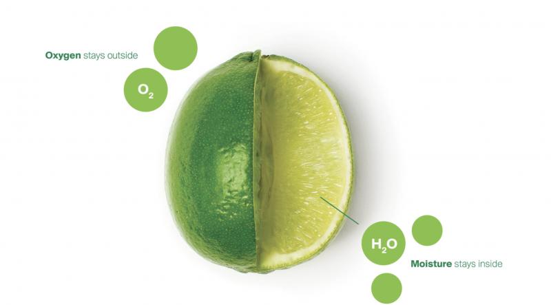 在水果表面上塗上可食用植物材料Apeel,可以減緩水分流失和氧化。(圖片來源:Apeel Sciences官網)(圖/食力foodNEXT提供)