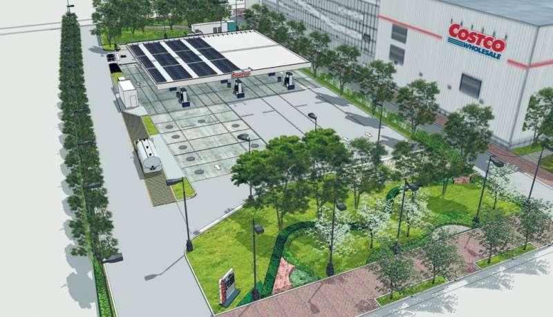 好市多加油站設計圖。圖片來源:洪明慧