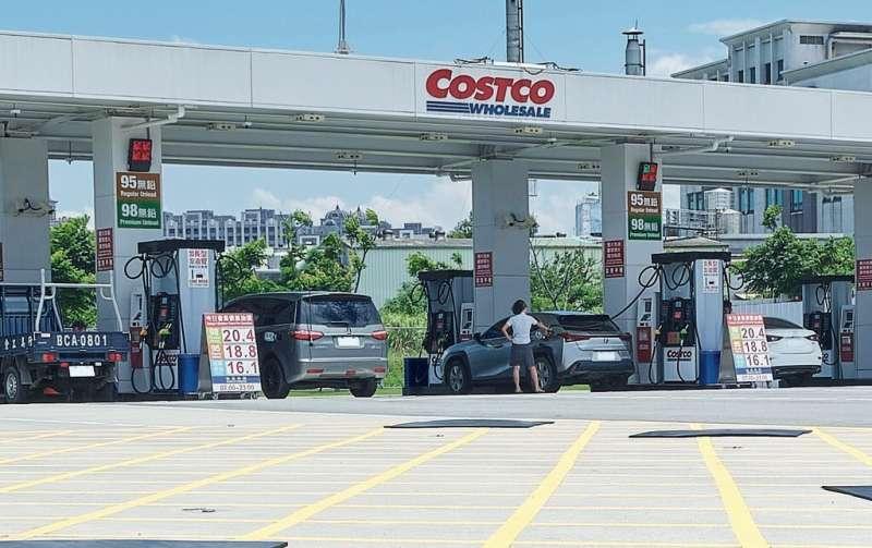 好市多加油站遠照。圖片來源:洪明慧