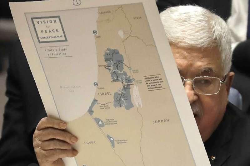 2020年2月,巴勒斯坦自治政府主席阿巴斯赴聯合國,重申巴人在聯合國181號決議框架下建國的決心。(AP)