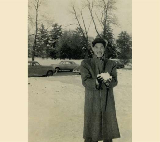20200915-1952年,已故前總統李登輝赴美國愛荷華州立大學深造。(取自總統府)