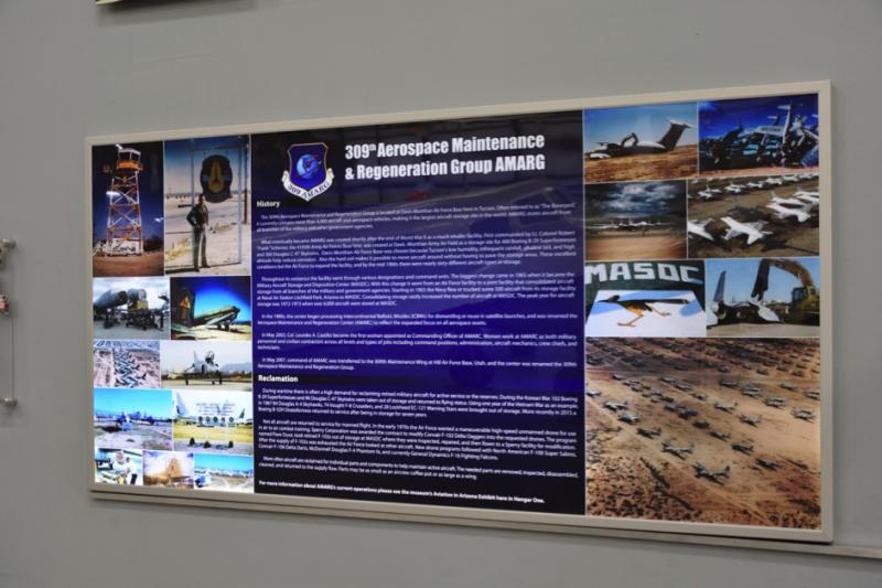 「飛機墳場」,由第309航太維修與再生大隊負責管理,目的就是將美軍退除役飛機封存保管起來,必要時可讓他們再度恢復現役並投入戰鬥!(許劍虹提供)