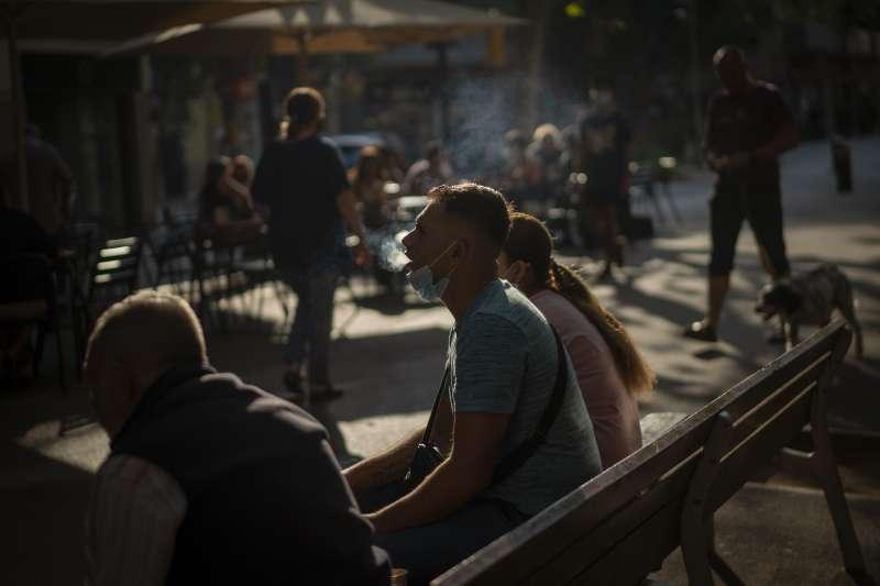 西班牙。歐洲爆發第二波新冠肺炎疫情。(AP)