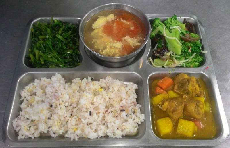 (示意圖/取自暖西國小營養午餐網站)