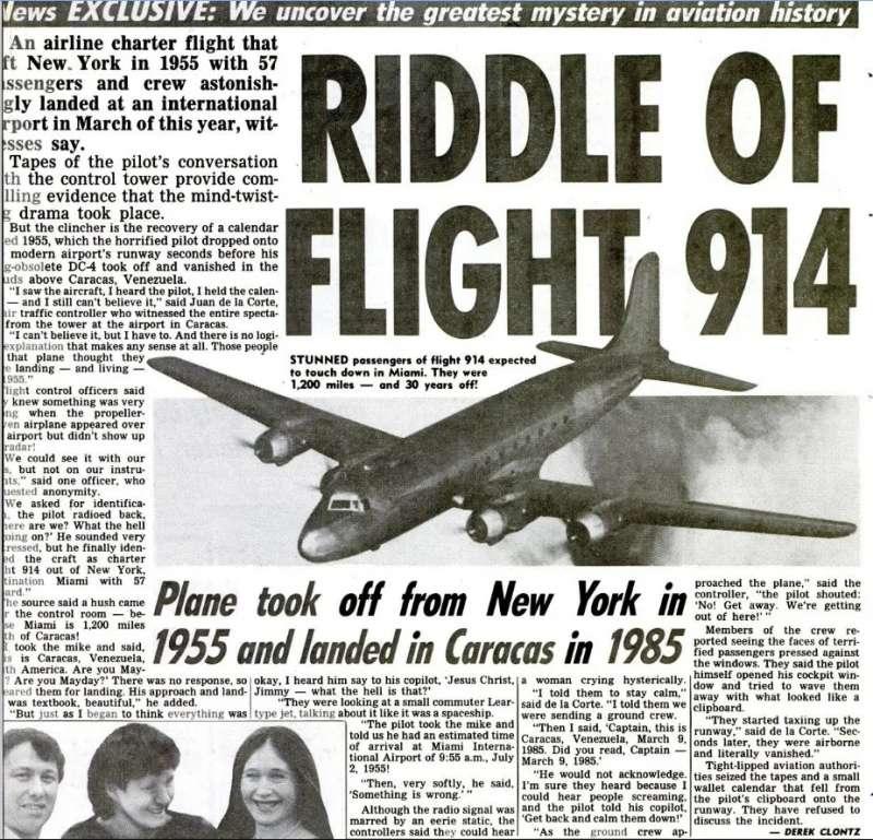 當時關於914航班的報導。(圖/翻攝網路)