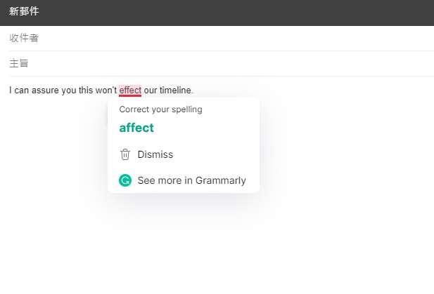 Grammarly。(圖/螢幕截圖)