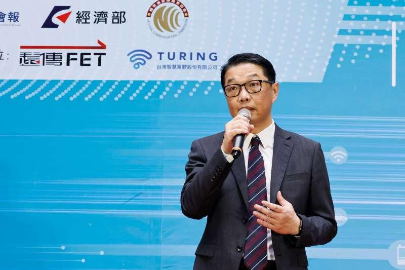 遠傳企業暨國際事業群執行副總經理曾詩淵表示,很榮幸獲得台北市政府的支持,讓遠傳有機會與策略夥伴台灣智慧駕駛合力加速發展台灣自駕車技術。(遠傳電信提供)