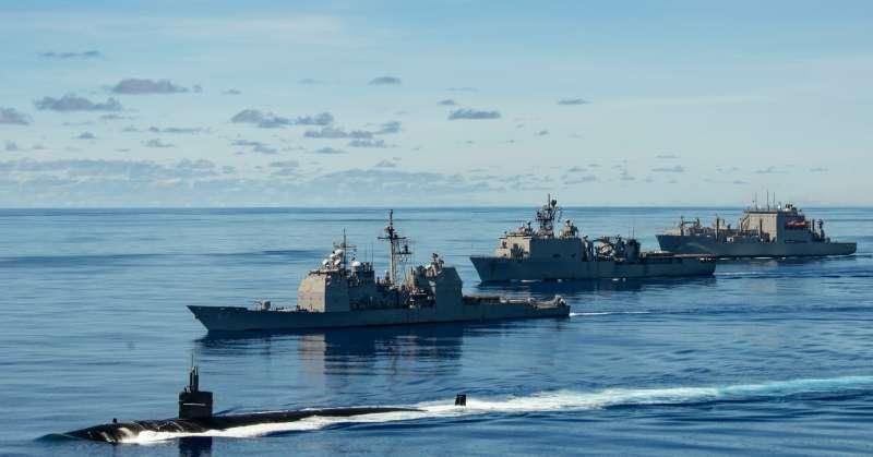 「勇敢之盾2020」軍演。(美國海軍官網)