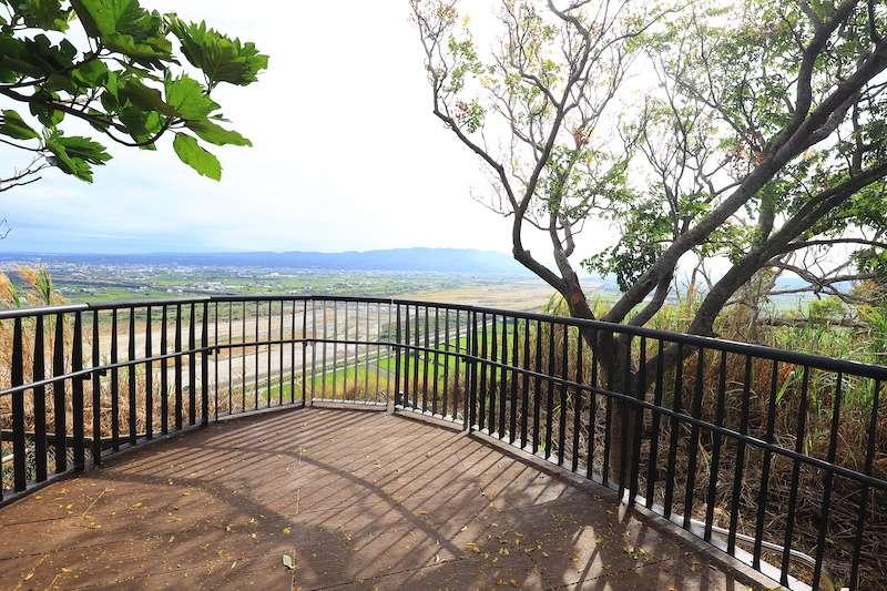 大甲鐵砧山風景特定區雕塑公園首創大甲自然生態觀景平台。(圖/台中市政府提供)