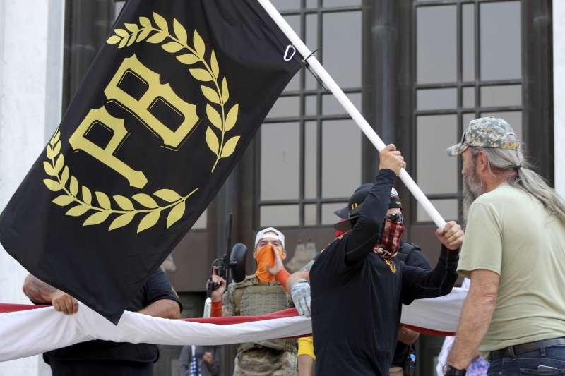 美國極右翼組織、川普死忠支持者「驕傲男孩」(Proud Boys),經常鼓吹以暴力對抗自由派(AP)