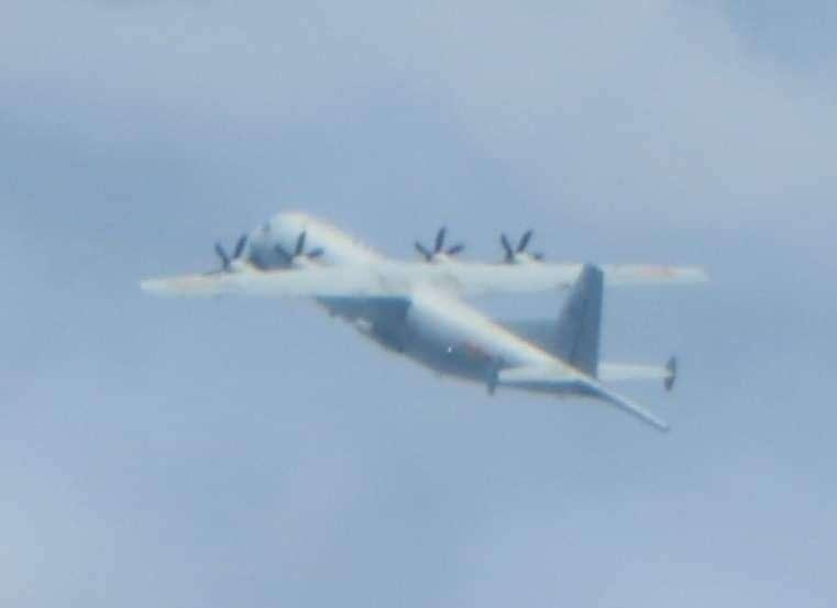 空軍司令部稍早發布訊息,今又有一架中共運8反潛機在我西南防空識別區現蹤。(空軍司令部)