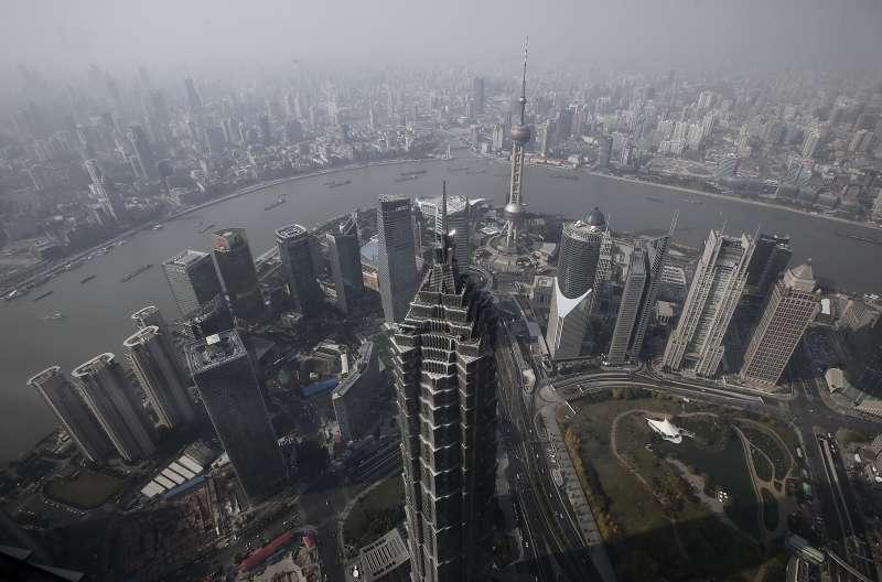 上海首次登上世界金融中心指數排行第三名。(美聯社)