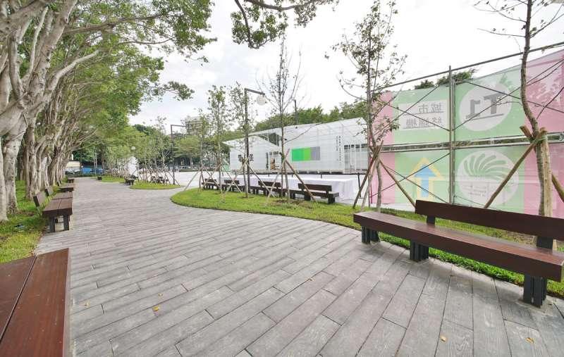 新竹孔廟廣場及步行空間。(盧逸峰攝)