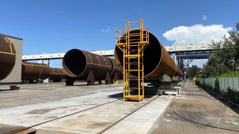 【新聞照片】台塑重工透過與沃旭能源密切合作, 成功建立學習能力完成首批水下基樁製造。(沃旭能源提供)
