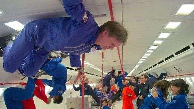 體驗零重力飛行。(BBC中文網)