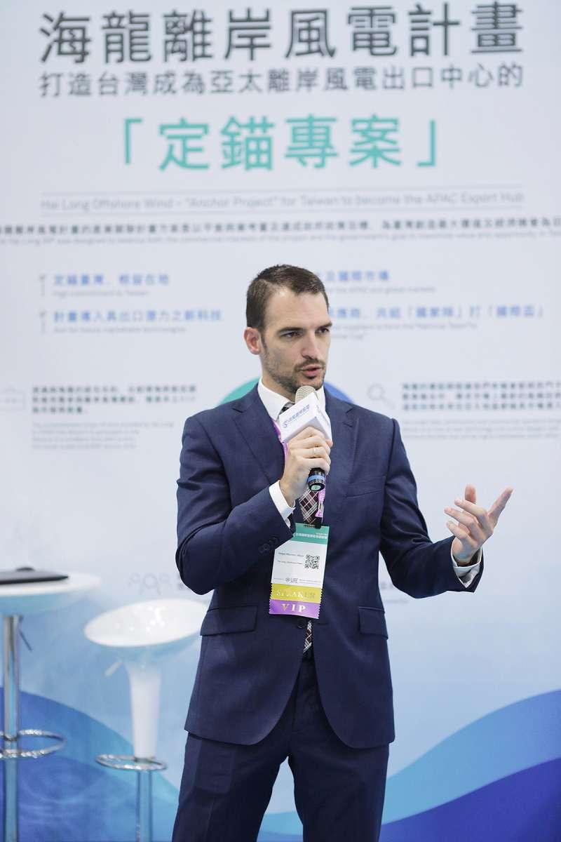 海龍離岸風電計畫總監岳慕駒(Felipe Montero)表示:「海龍計畫引進海外專家傳承經驗,同步培育台灣本土人才,最終目標是打造台灣成為離岸風電產業的領頭羊。」。(海龍提供)