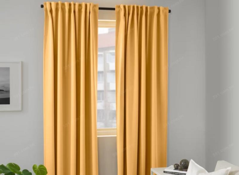 傳統布簾擁有高遮光性並且耐用。(圖/IKEA提供,591房屋交易網)
