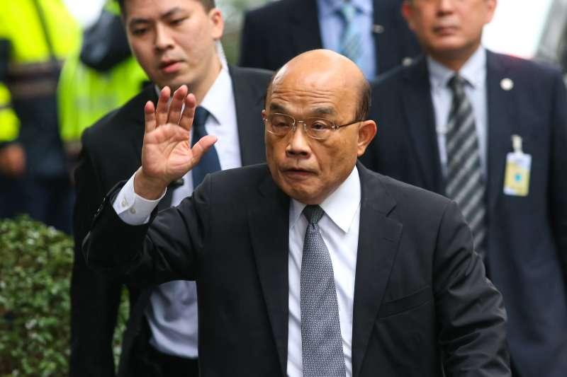 20201016-行政院長蘇貞昌16日出席立法院院會。(顏麟宇攝)