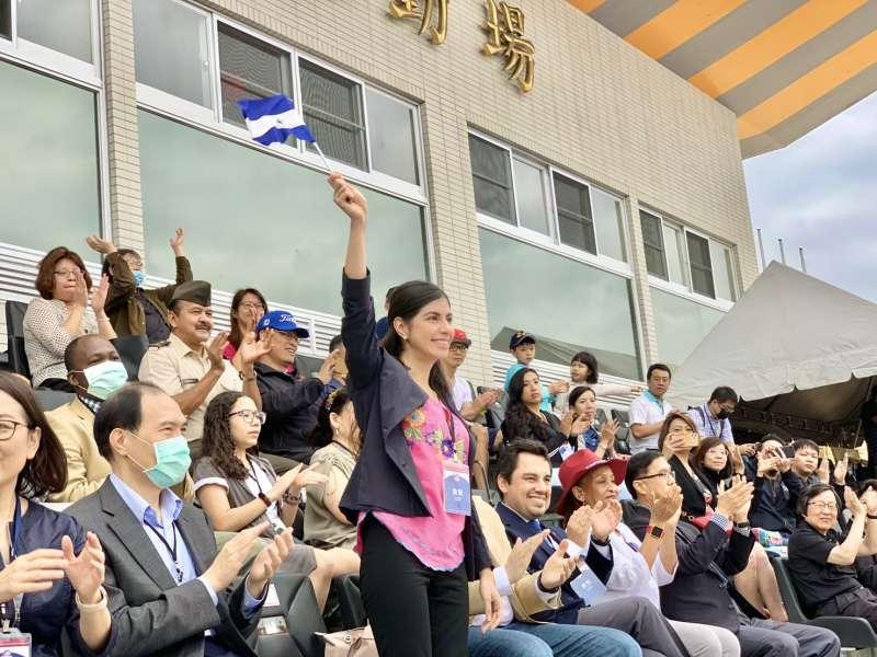 2020台灣拉美盃足球賽:尼加拉瓜駐台大使李蜜娜(簡恒宇攝)
