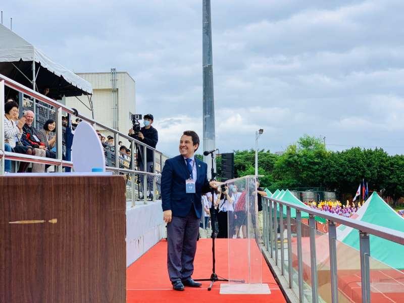 2020台灣拉美盃足球賽:瓜地馬拉駐台大使葛梅斯致詞(簡恒宇攝)