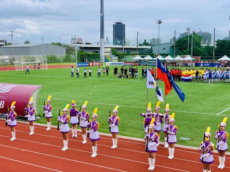 2020台灣拉美盃足球賽:士林高商儀隊表演(簡恒宇攝)