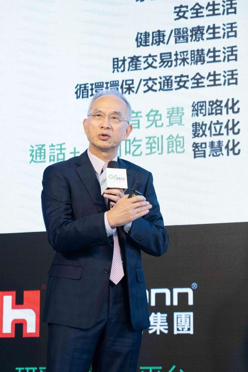 亞太電信董事長今日於5G啟動營運記者會,擘劃亞太電信5G未來發展藍圖。(亞太電信提供)