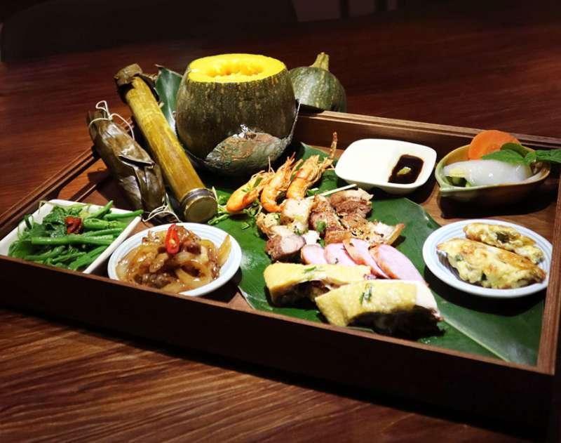 圖二、立閣餐點採用當地小農栽種的天然無毒蔬菜,以及當地原住民製作的風味料理。(圖/立閣人文旅店)