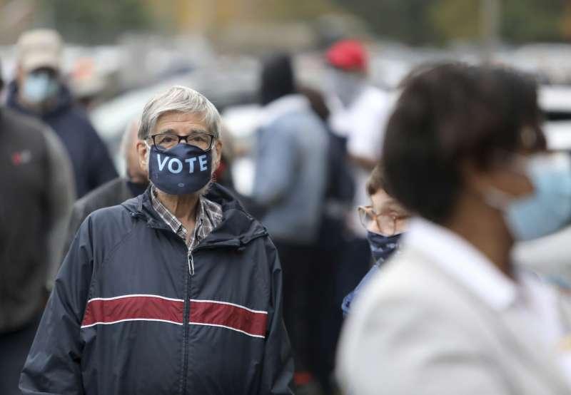 美國總統大選:提前投票的選民。(AP)
