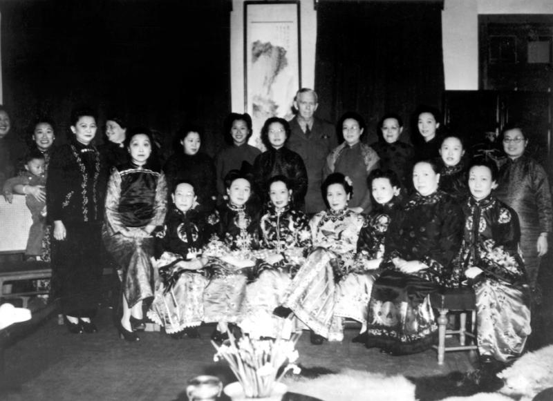 20201027-1946年,宋美齡舉辦聖誕派對安撫馬歇爾。(廖彥博提供)