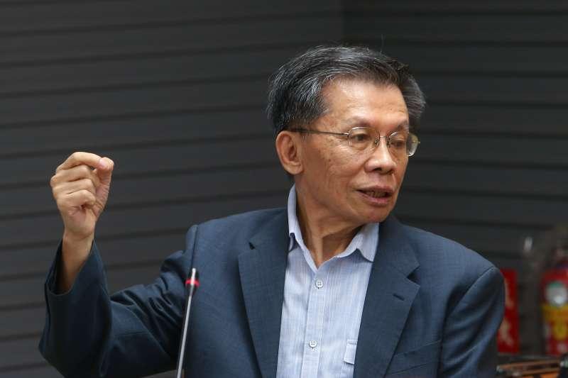 20201028-政治評論家沈富雄28日出席「美國總統大選結果及其影響」記者會。(顏麟宇攝)
