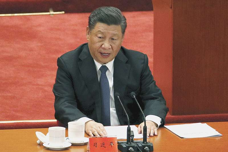習近平(圖)多次引用毛澤東抗美援朝時的講話,包括「中國人民已經組織起來了,是惹不得的」。(美聯社)