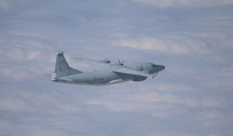 20201030-空軍司令部表示,今有3架共機進入我西南空域,機型分別為運8電偵機、運8遠干機(見圖)、運8技術偵察機。(空軍司令部提供)